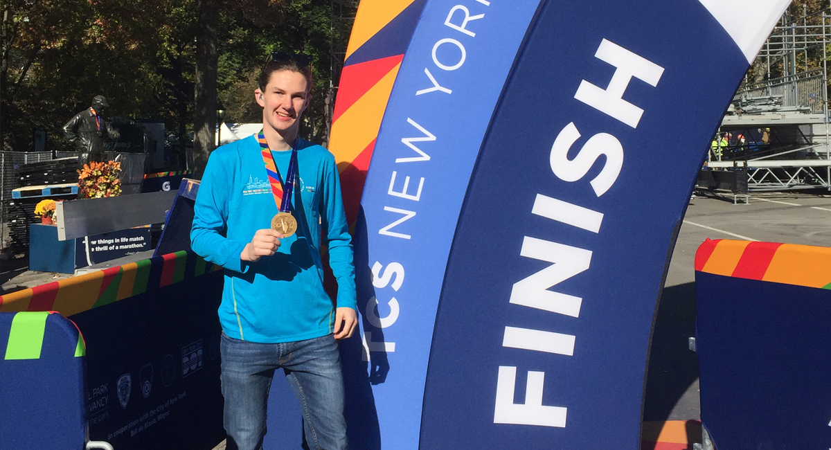 Agricultural student runs the New York Marathon for charity
