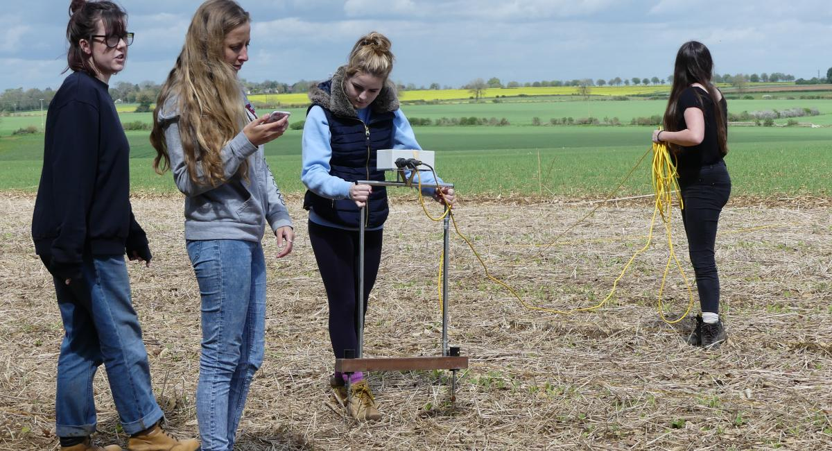 RAU Environment students have been investigating an archaeological site on a farm close to the RAU