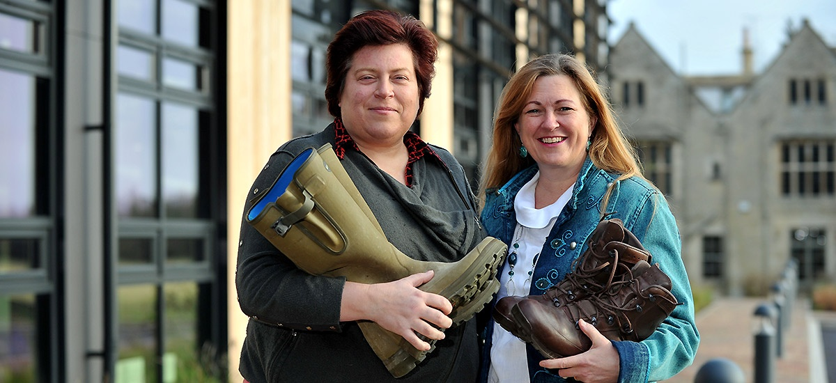Fiona Galbraith and Wendy Faux