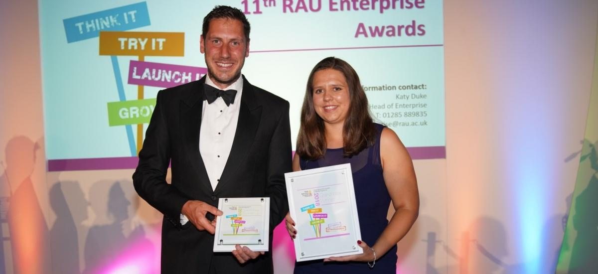 Alex Dunn - Winner of Grand Idea competition 2018 with Alex Crawley, runner up