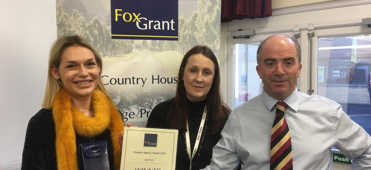 Isobel Green, BSc Real Estate student at RAU, winner of Fox Grant prize 2018