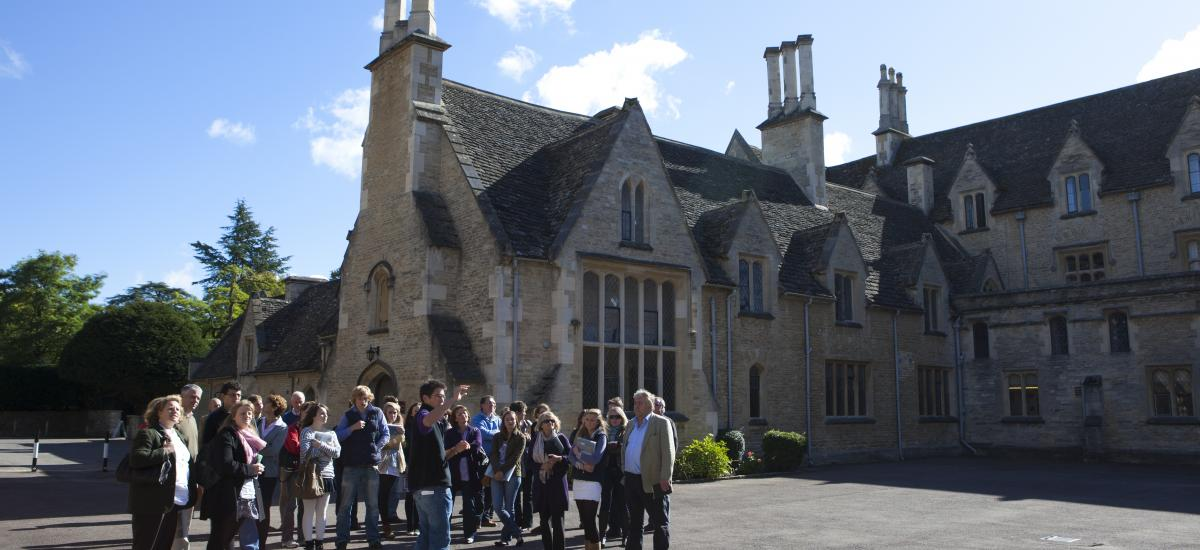 Image of students on a tour
