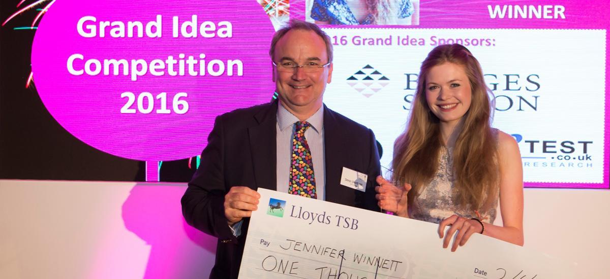 RAU Grand Idea winner 2016 - Jen Winnett