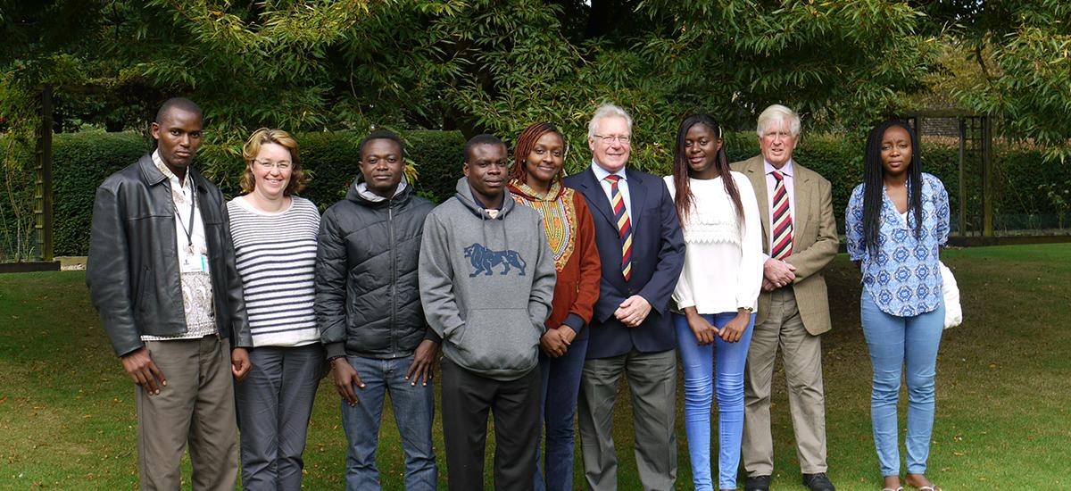 RAU welcomes African Fellows. The names (Left to right): Julius (Uganda), Nicky, Emmanuel (Ghana), Christian (Ghana), Judith (Kenya), Paul, Eluby (Malawi), David, Agnes (Nigeria but not AFT).
