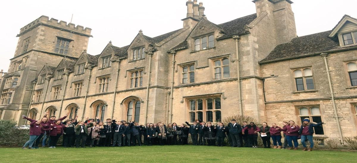 Year 9 pupils from Nova Hreod Academy, Swindon visit the RAU campus