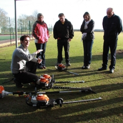 Sales training in the grounds
