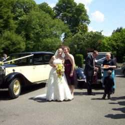 The wedding party arrives