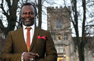 Levi Roots standing outside of RAU