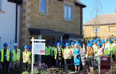 RAU staff visiting Newland Homes Oct 2018