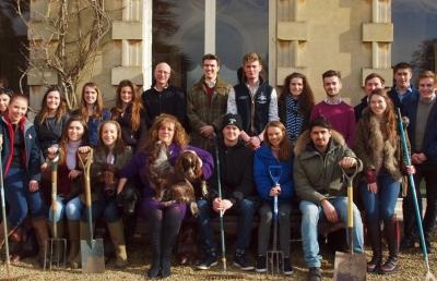 Students with Lady Bathurst - HMP Eastwood Park allotment